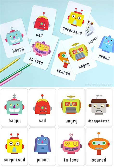 printable feelings flashcards for toddlers printable emotion flash cards available in english
