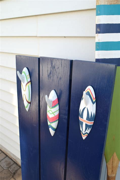 surfboard home decor how to camouflage the electric box and make a diy towel