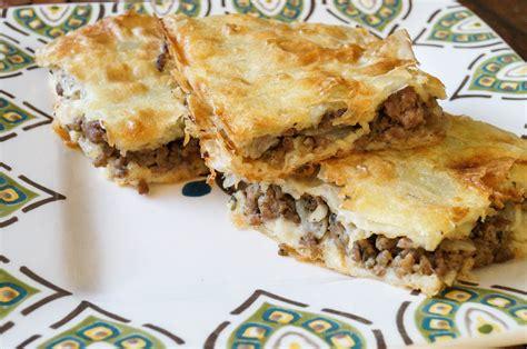 Ottoman Recipes Kiymali Borek Turkish Ground Beef And Phyllo Pie Tara S Multicultural Table