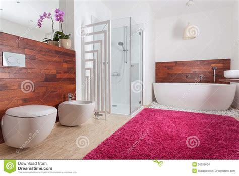 teppich im badezimmer roter teppich im hellen badezimmer stockbilder bild