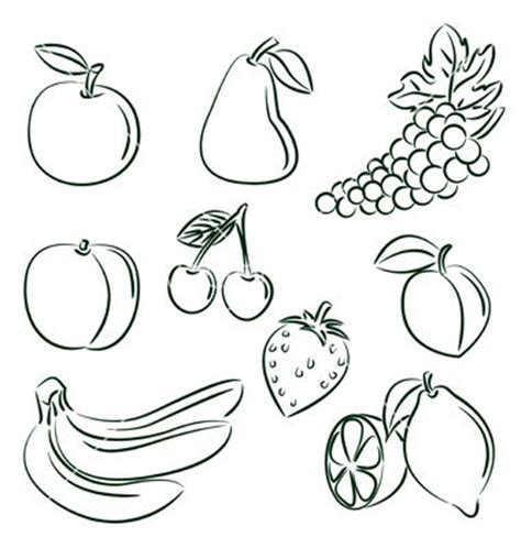 doodle fruit 28 best images about drawing outlines on
