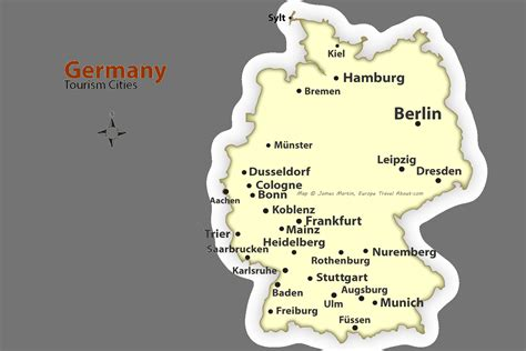 map of germany showing cities german cities map best places to visit in germany