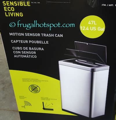 Costco Bathroom Trash Can Costco Sale Sensible Eco Living 12 4 Gallon Motion Sensor