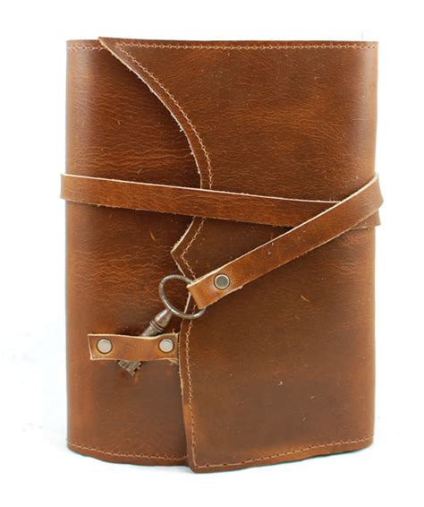 refillable leather journals nottinghill refillable leather journal with antique key cognac divina denuevo