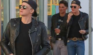 Gbc F Jaket Neo Atention Berkualitas steps out with a pal in venice looking stylish daily mail