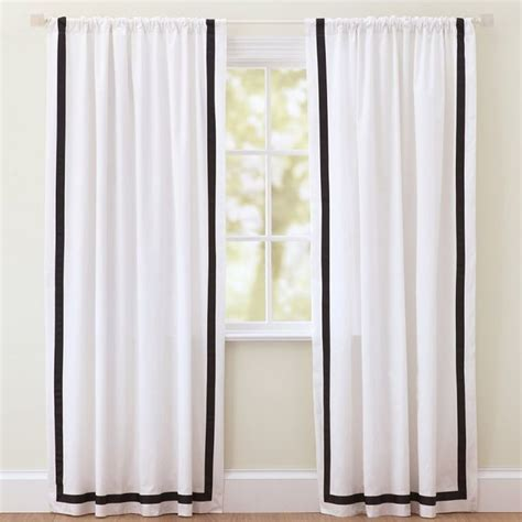 Suite Ribbon Drape Black Contemporary Curtains By