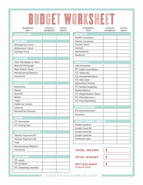 monthly budget worksheet dave ramsey luxury 34 beautiful