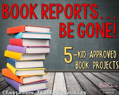 alternative book report ideas book reports be 5 kid approved book projects