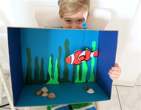Aquarium Kinderzimmer Ideen by Wir Basteln Ein Pappkarton Aquarium Dezentpink Diy