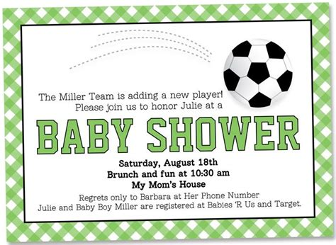 Soccer Themed Baby Shower Ideas by Soccer Baby Shower Invitation Baby Shower Ideas