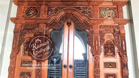 Gebyok Ukir 5 gebyok ukir kaligrafi rumah gebyok jepara jual pintu gebyok ukir