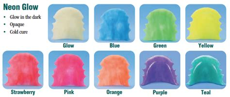 retainer colors hua cheng orthodontic lab retainer color chart