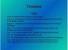 Korean War Timeline 1950 1953 2