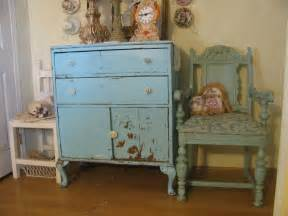 Shabby chic blue and green panda s house