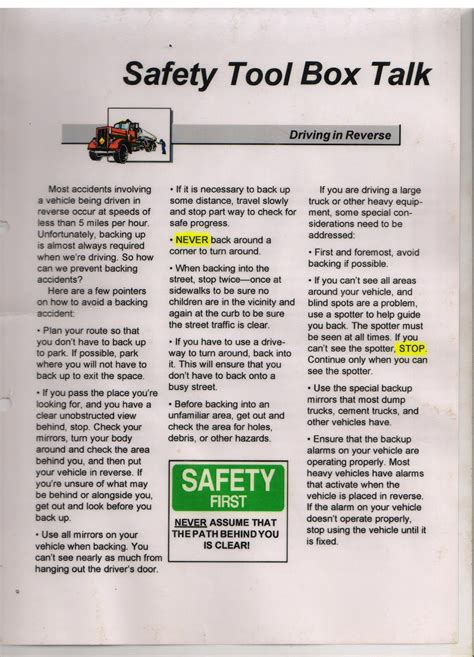 safety toolbox template simple safety tool box talk material part 03