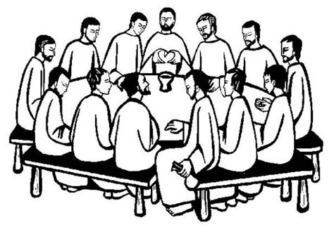 last supper coloring page last supper the apostles gather in the last supper