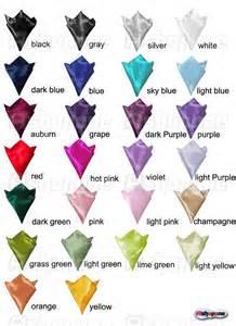 hanky color code new mens wedding solid color plain silk hankerchief hanky