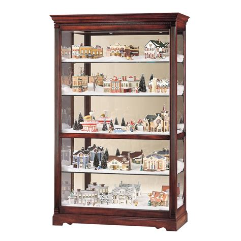 Curio Display Shelf howard miller townsend curio display cabinet 680235