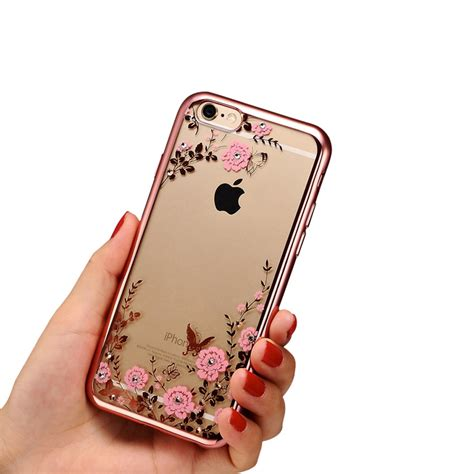 For Iphone 6 6s Plus Luxury Flower Bling Fashion So T0310 2016 new luxury secret garden flowers rhinestone cell phone cases for iphone 6 6s plus 5 5s 4