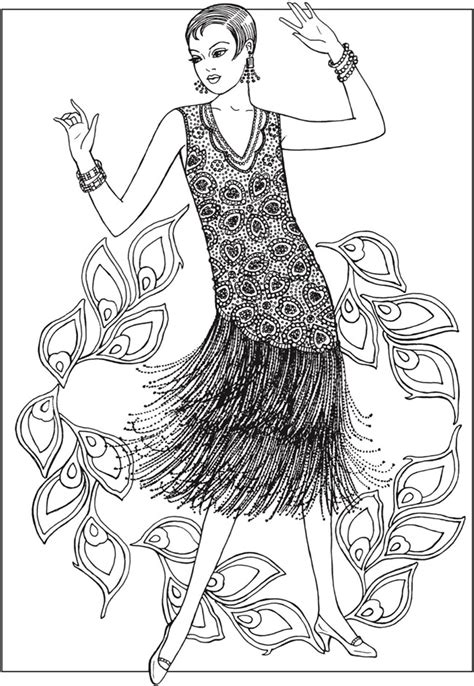unique fashion coloring book for adults books creative jazz age fashions coloring book by ming ju