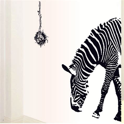 M8 Wallpaper Sticker Motif Zebra wholesale animal zebra wall stickers decoration stickers wallpaper eco friendly pvc solid color