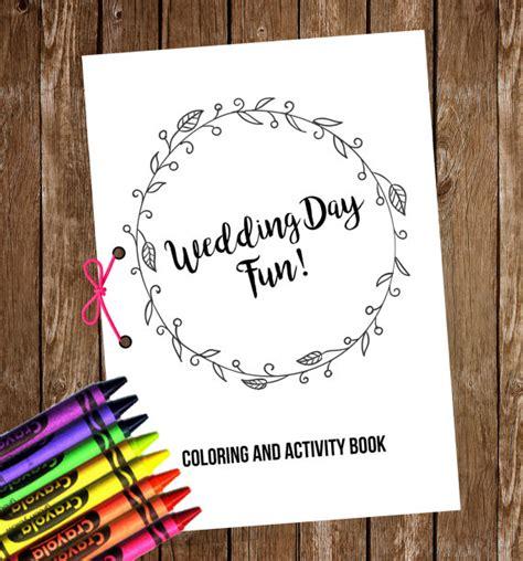 wedding coloring and activity book wedding coloring activity book kids wedding coloring book