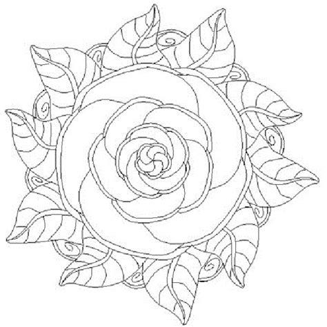 imagenes de mandalas rosas mandalas de flores para colorear e imprimir