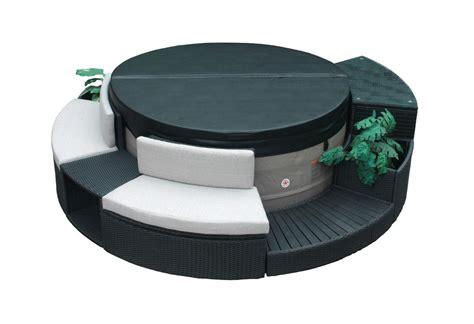 bathtub spa kit 5pc round spa furniture surround kit fits circular hot tub