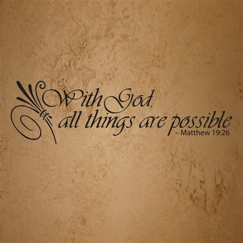 with god all things are possible bible quote free