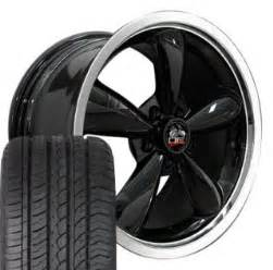 Big Tires For 18 Inch Rims Black Mustang 174 Wheels Fit Saleen Gt 18x9 And Wide Tires