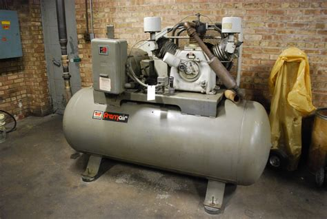 worthington 25 hp size 6 6 4 1 2 x 2 3 4 tank mounted air compressor s n 876 2241