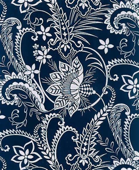 Rok Batik Seling 3 Motif Rok Batik Batik Wanita indigo katagami fabric large blossoms vines 1 2 yd
