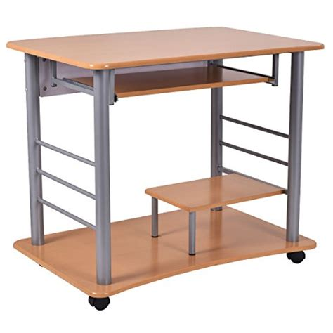 small rolling computer desk tangkula rolling computer desk laptop pc table for small