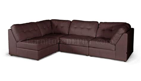 Wholesale Leather Sofas by Warren Sectional Sofa Brown Bonded Leather Wholesale