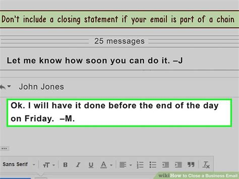 email ending how to close a business email 10 steps with pictures