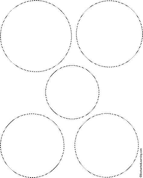 tracing cutting templates enchantedlearning common worksheets 187 circles template preschool and