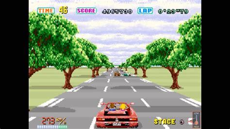 outrun  arcade playthrough route  youtube