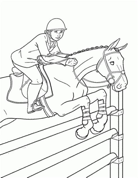race horse coloring pages with jockey derby sketch
