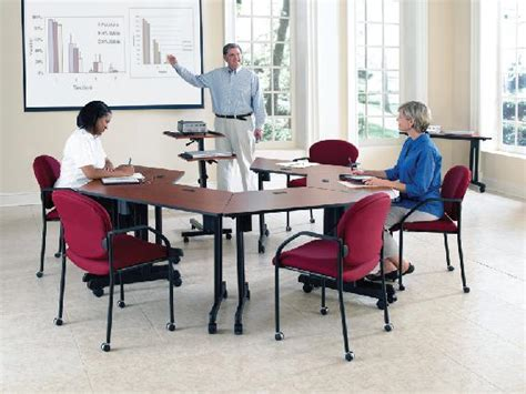 classroom layout with trapezoid tables wow ofm meeting and training tables enhance your