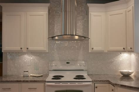white mother of pearl 1 quot x 1 quot backsplash traditional