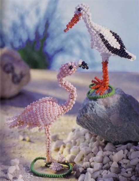 need to bead pink flamingos 3d beaded animals an things