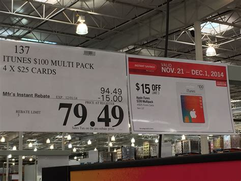Costco Gift Cards For Sale - 20 discount on itunes gift cards