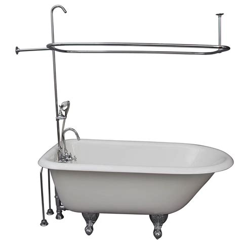 4 5 foot bathtub pegasus 4 5 ft cast iron ball and claw feet roll top tub
