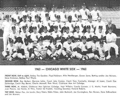 thedeadballera 1963 chicago white sox team photo