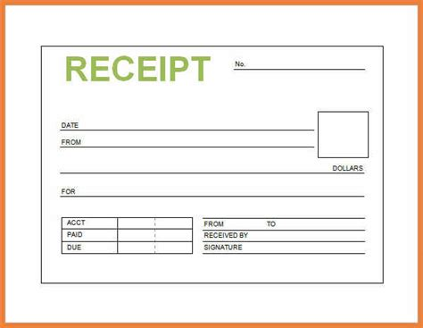 Basic Receipt Template by Simple Receipt Template 28 Images Simple Receipt