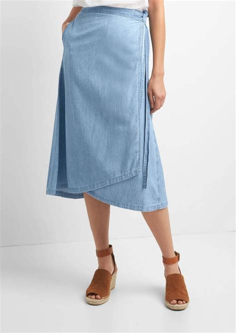 gap tencel denim wrap skirt skirts shop it to me