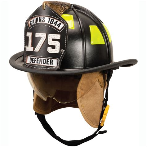 design fire helmet front cairns 1044 traditional with defender visor deluxe