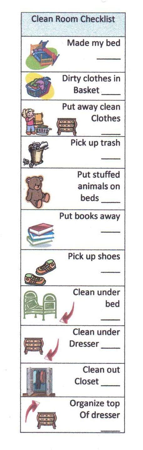 clean bedroom checklist help your child succeed with a clean room checklist