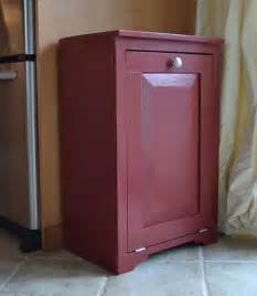 white wood tilt out trash or recycling cabinet diy