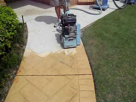 youtube pattern concrete how to remove sted or patterned concrete to prepare for